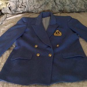 Vintage Violet-Blue Wool Blazer